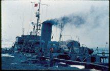 Fregatten Thetis i Grønnedal efter eftersøgningen af Hanne S er sluttet